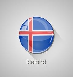 european flags set - iceland vector image