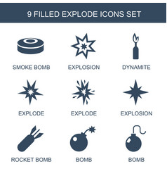 Explode icons vector