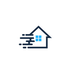 fast house logo icon design vector image
