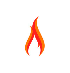 fire logo sign icon vector image