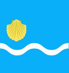 flag of olsztyn in poland vector image