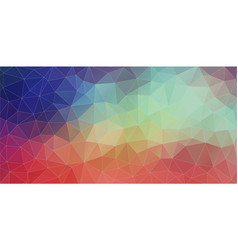 Flat triangle horizontal banner vector