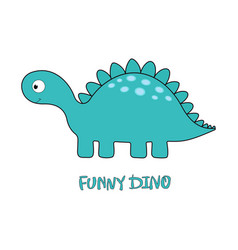 Funny dino on white vector