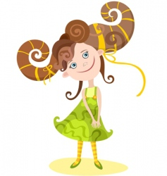 Girl Aries vector