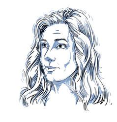 Graphic hand-drawn white skin attractive naive vector