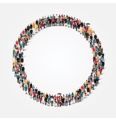 group people shape circle vector image vector image