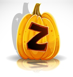 Halloween Pumpkin Z vector image