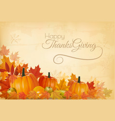 happy thanksgiving background with colorful vector image