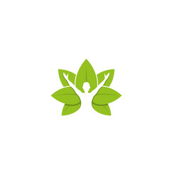Healing body leaves logo design vector