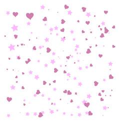 heart confetti falling down vector image
