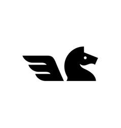 horse wing logo icon vector image