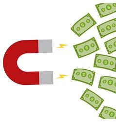 Horseshoe Manget Attracting Money vector image