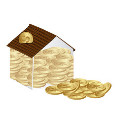 Housing save coins icon vector