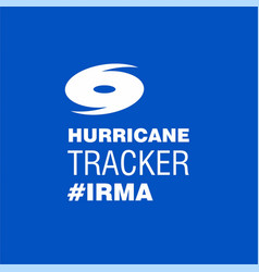 Hurricane tracker irma blue poster template vector