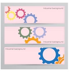 Industrial banner background concept vector