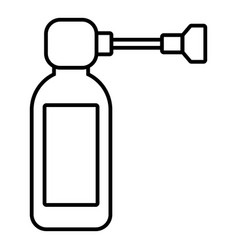 Inhaler icon outline style vector