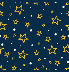 kids stars seamless background vector image