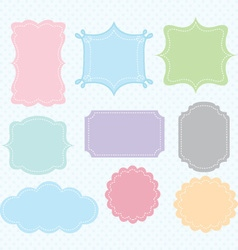 Label Frames Border Collections vector