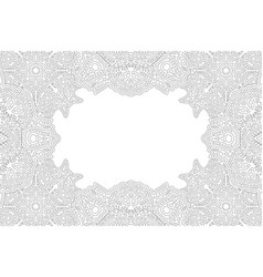 Line art for coloring book with ornate border vector