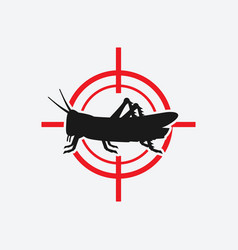 Locust icon red target vector