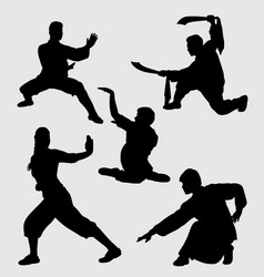 Martial art sport silhouette vector