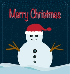 Merry Christmas snowman background vector