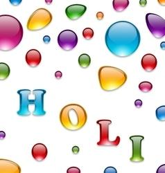 Multicolored Drops for Indian Festival Holi vector