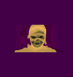mummy zombie halloween costume mask vector image