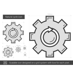 Natural cycle line icon vector