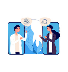 Online psychotherapy concept psychologist doctor vector