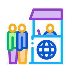 people on check control icon outline vector image