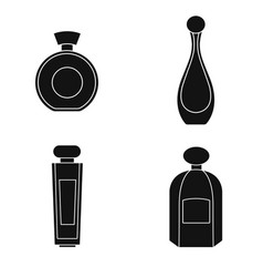 Perfume isolated silhouette on a transparent vector