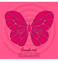 pink butterfly background vector image