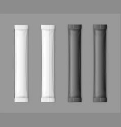 realistic detailed 3d matte sachet stick set vector image