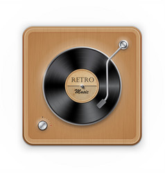 Retro vinil record player vector