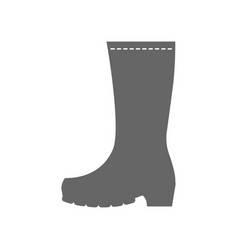 rubber boots work clothes for construction vector image