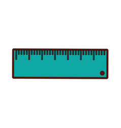 Rule school supply icon vector