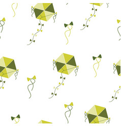 Seamless pattern with green kites vector