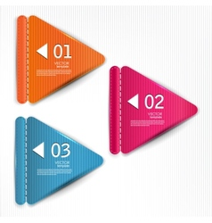 set bookmarks stickers labels tags template vector image