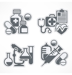 Set of medicines symbols vector