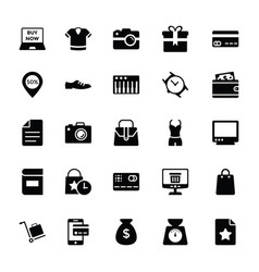 Shopping and commerce glyph icons 1 vector