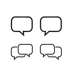 simple bubble chat icon pack vector image