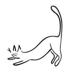 Simple funny cat vector