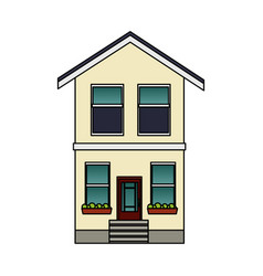single house icon image vector image