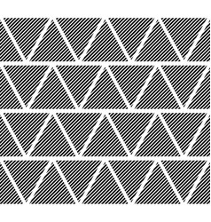 Slanting lines clipped in triangles seamlessly vector