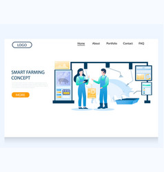smart farming concept website landing page vector image