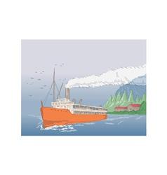Steamship Steamboat Vintage vector