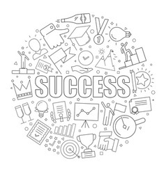 success background from line icon vector image