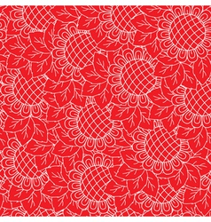 Sunflowers red seamless background vector