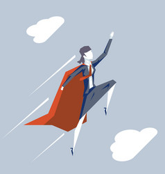 superhero carrier fly up woman business woman vector image